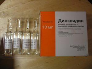 """""""Диоксидин"""" при отите"""