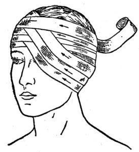 как наложить повязку на ухо