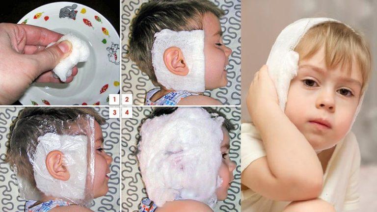 Как снять ушную боль в домашних условиях у ребёнка