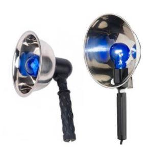 как греть ухо синей лампой