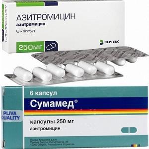 азитромицин при отите