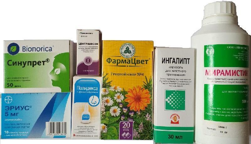 Список препаратов для лечения гайморита