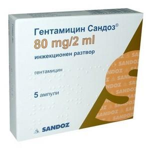 гентамицин при гайморите