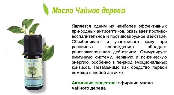 масло чайного дерева от насморка
