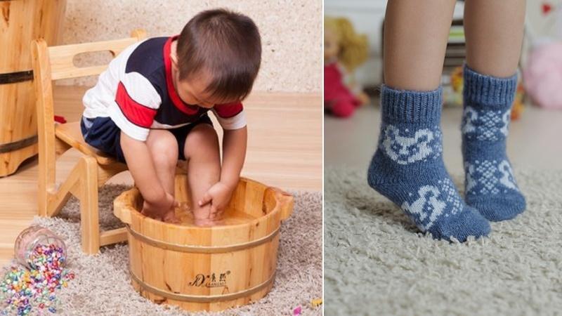 Можно ли парить ноги при гайморите взрослым и детям: с чем парить