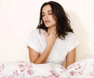 Как обезболить горло при ангине