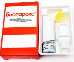 Как принимать Биопарокс при ангине