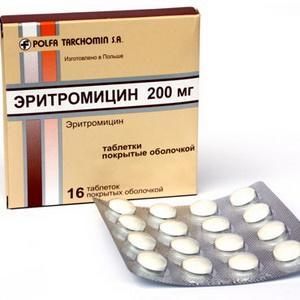 Как принимать «Эритромицин» при ангине